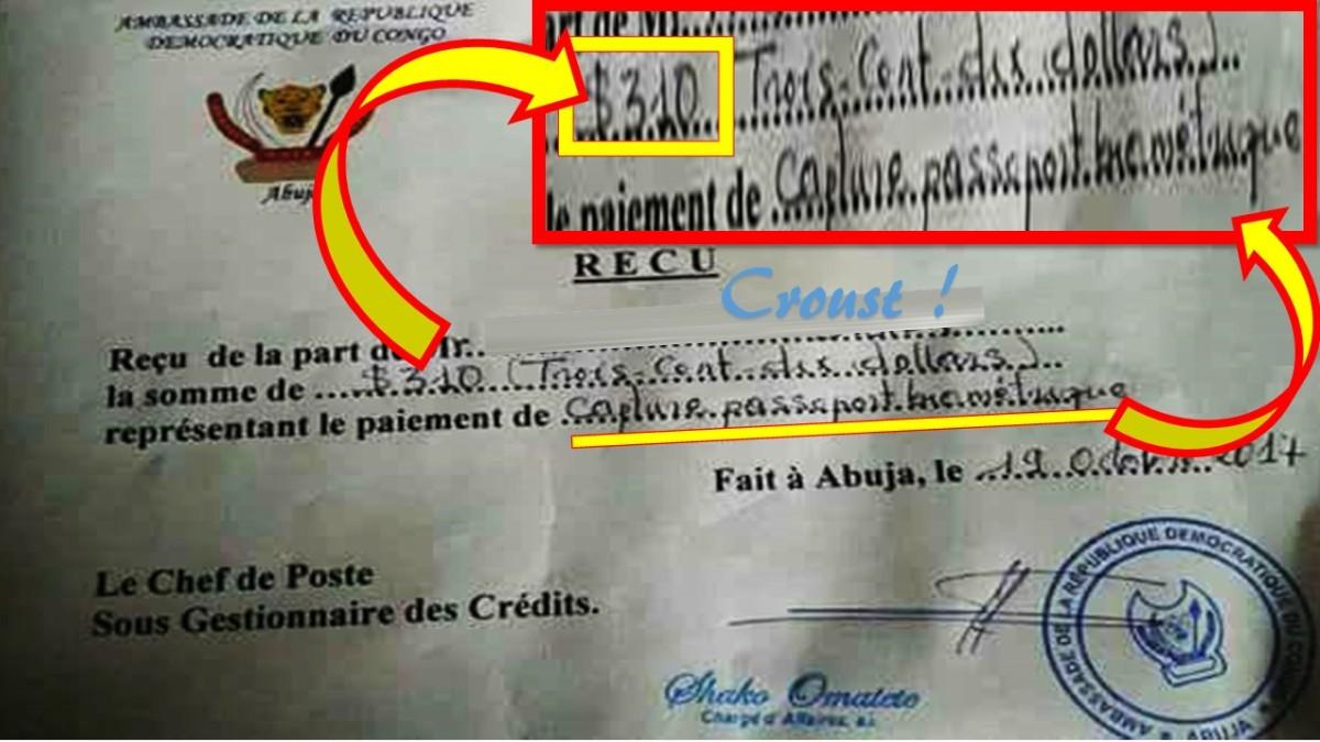 """SCANDALE: LE PASSEPORT """"BIOMETRIQUE"""" CONGOLAIS VENDU A 310 $ AU NIGERIA."""