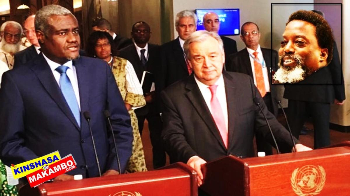 RDC: L'ONU ET L'UA APPELLENT A NOUVEAU AU RESPECT DE L'ACCORD DE LA ST SYLVESTRE
